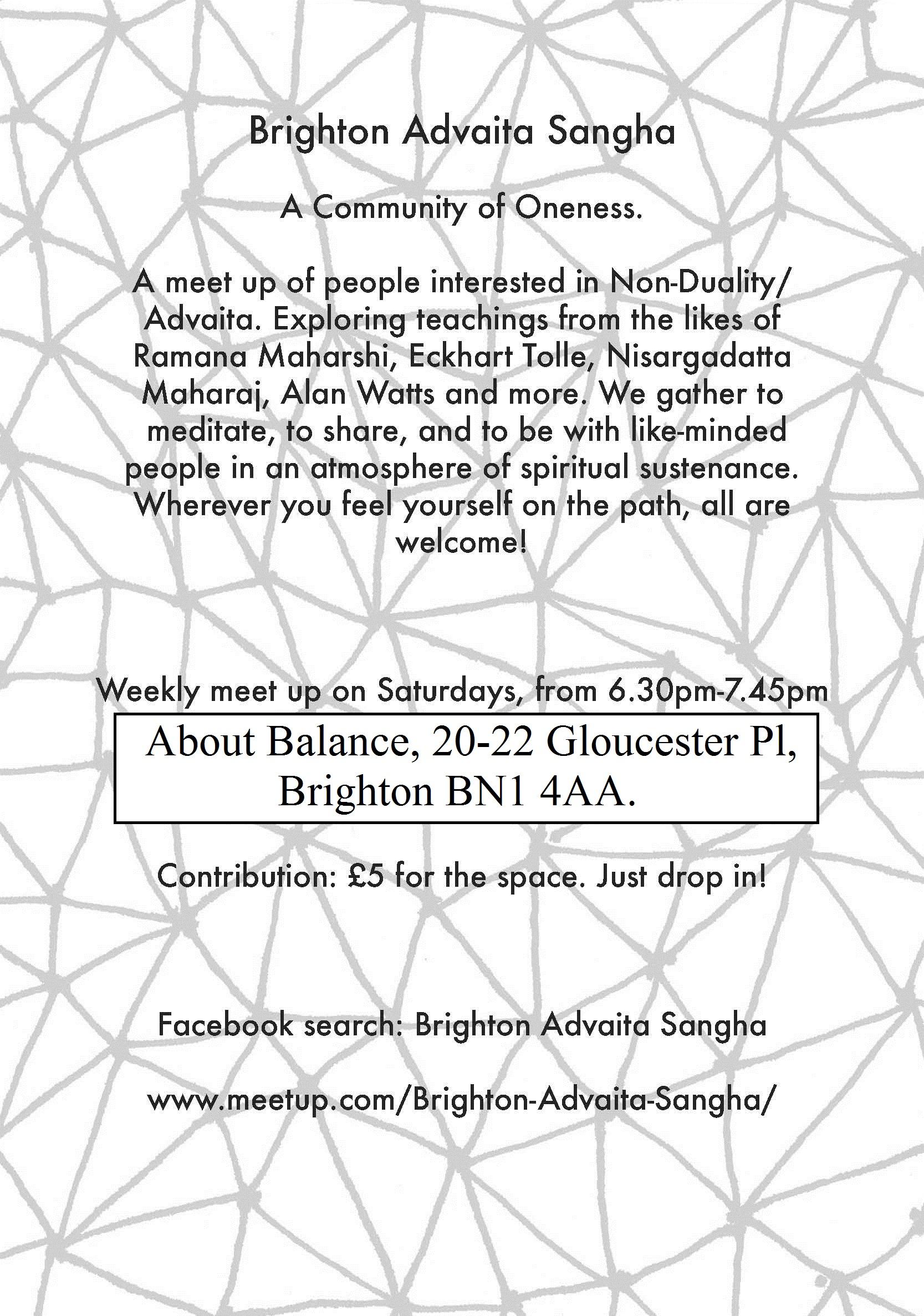Brighton Advaita Sangha back